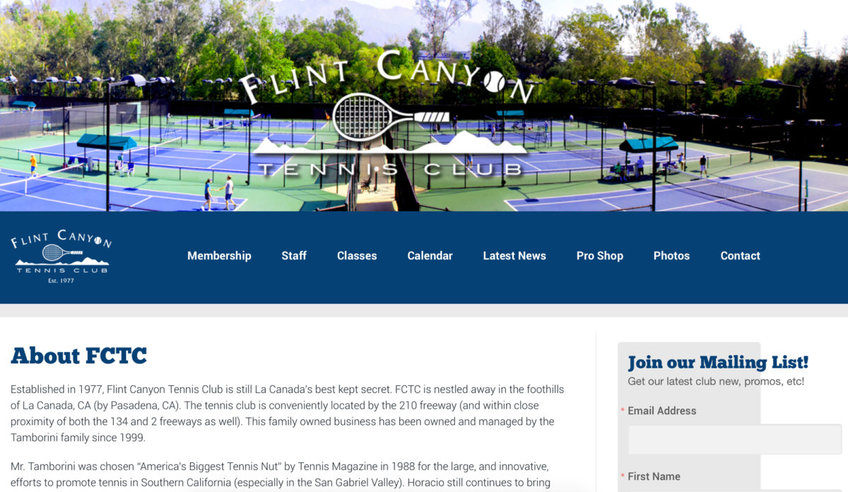 Flint Canyon Tennis Club
